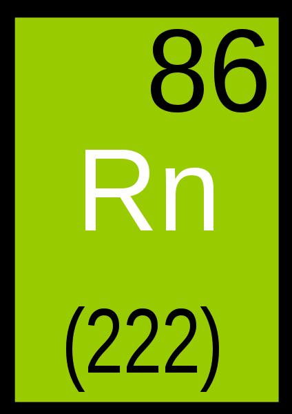 Numéro atomique du radon